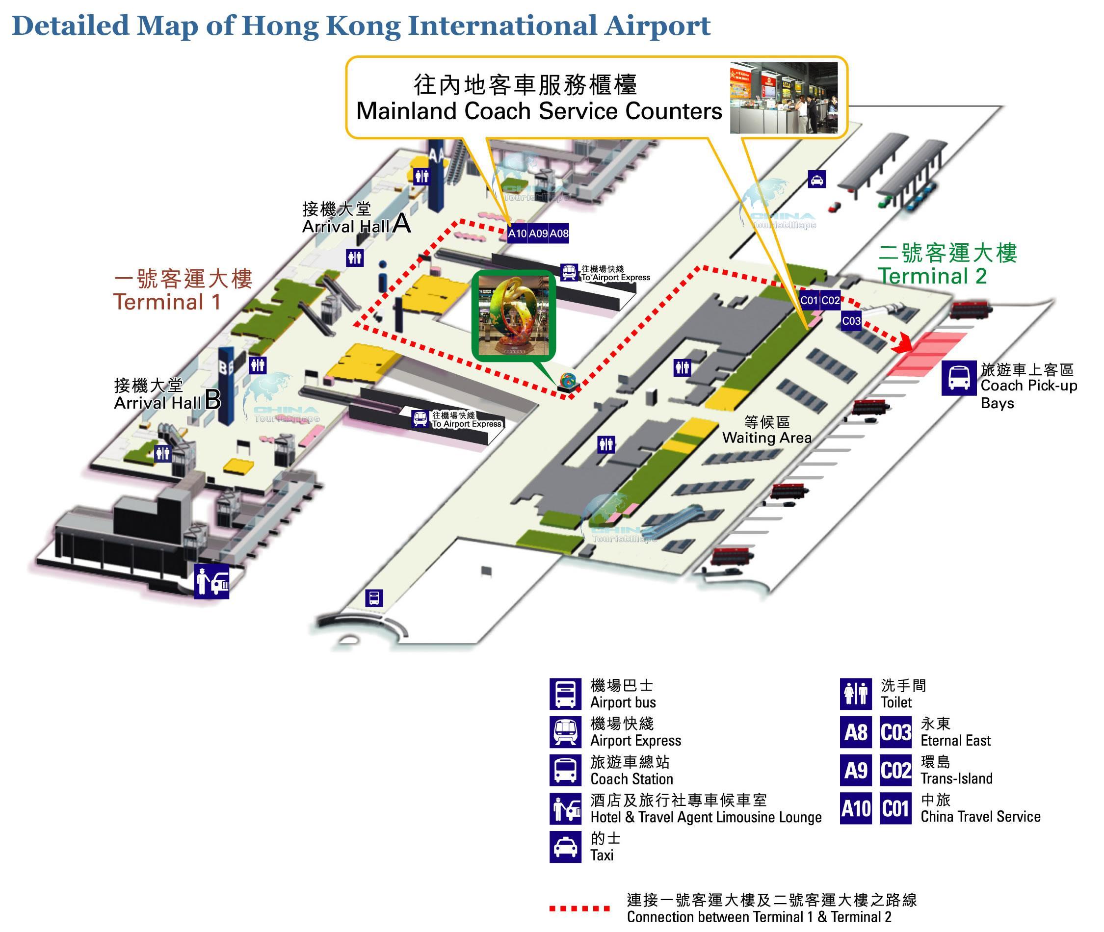 Hk Lentokentta Kartta Hongkong Lentokentta Kartta Kiina